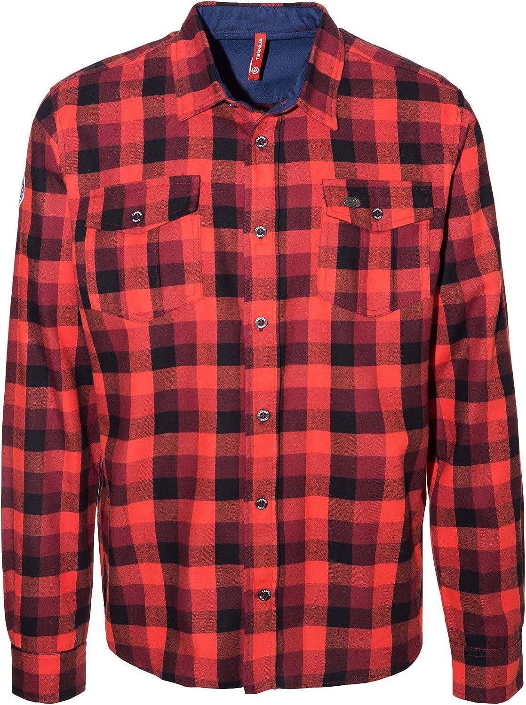 Ternua Engus M Camisa, Hombre, Naranja (Orange Red/Bordeaux ...