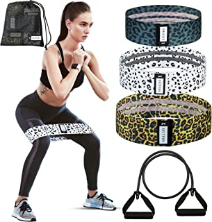 XFITPRO Booty Bands Anti Slip - Band Exercise Resistance Fitness for Glute/Hip/Thigh. Looped Resistance Bands for Legs and...