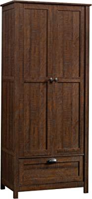 Sauder Storage Cabinet, Rustic Walnut finish