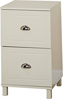 Target Marketing Systems Bradley Collection Modern 2 Drawer Filing Cabinet With Metal Handles, White