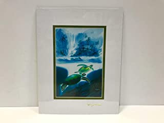 """by Wyland & James Coleman Double Matted with Gold Foil Stamp (Turtle) Ready to Frame: 11"""" X 14"""""""