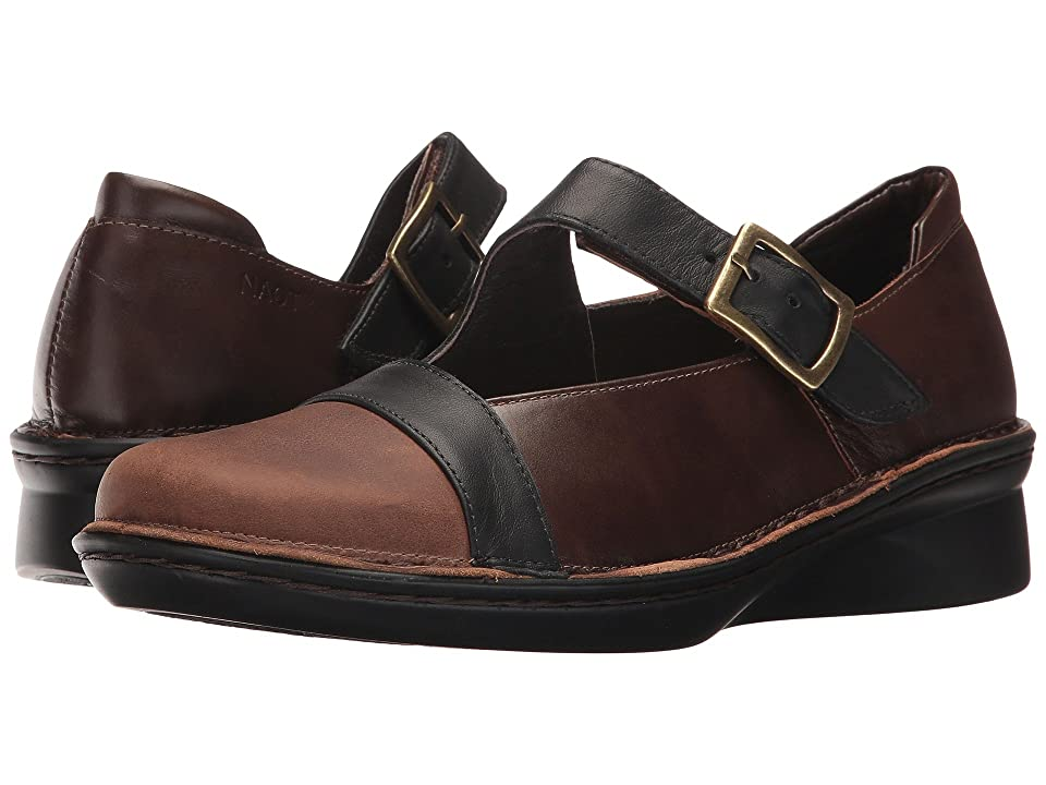 Naot Rhythm (Saddle Brown Leather/Pecan Brown Leather/Jet Black Leather) Women