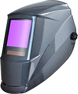 Antra Welding Helmet Auto Darkening AH7-860-001X Huge Viewing Size 3.86X3.5