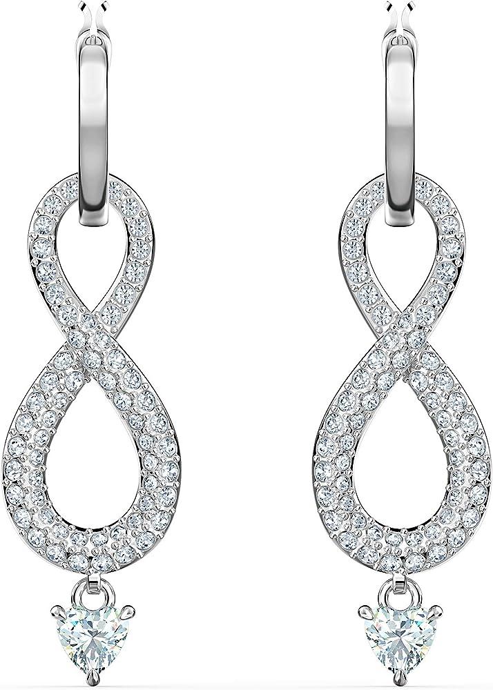 Swarovski orecchini infinity per donna placcati in rodio 5520578