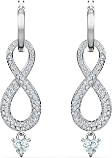 SWAROVSKI Women's Infinity Jewelry Collections, Rhodium Finish, Rose Gold Finish, Clear Crystals