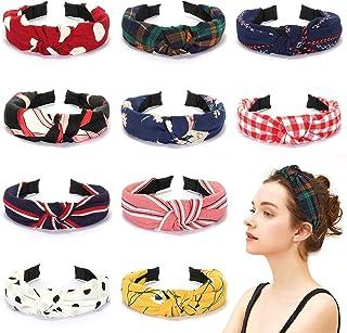 Winpok Opaska do włosów dla kobiet, 10 sztuk, elastyczna opaska na włosy, turban, węzeł, opaska do włosów, dla kobiet, spo...