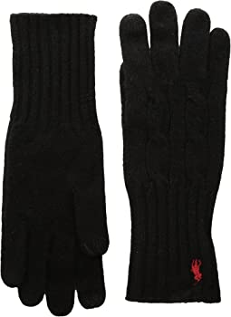 Polo Ralph Lauren - Cashmere Blend Classic Cable Knit Gloves