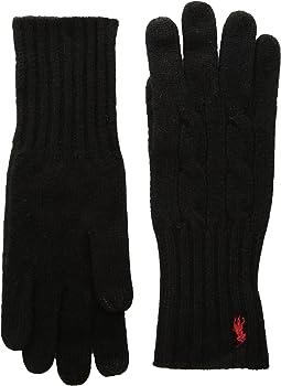 Polo Ralph Lauren - Cashmere Blend Classic Cable Knit Gloves