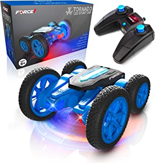 Force1 Tornado LED Remote Control Car for Kids – Double Sided Fast RC Car, 4WD..