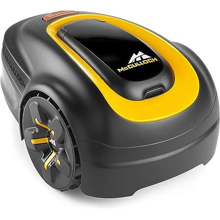 McCulloch 00096-77.981.25 ROB S600 Cortacésped eléctrico para jardines de hasta 600m2, corte 20-50mm, pendiente de 35%, 18 V,función trituradora