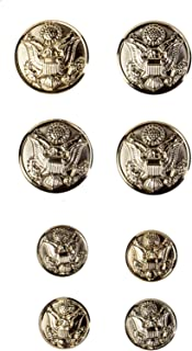US Army Officer Male Button Set, ASU