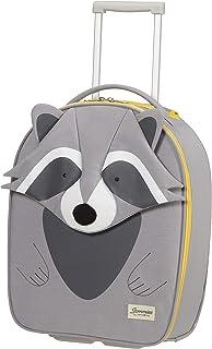 Samsonite Happy Sammies Eco Upright XS Valigia per Bambini, 45 cm, 23 L, Grigio (Raccoon Remy)