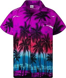 Koszula Hawajska Funky Casual Dla Mężczyzn Bardzo Głośno Krótki Rękaw Dla Obu Płci Plaża