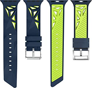 iGK Compatible with Apple Watch Bands 38mm 40mm 42mm 44mm,Soft Silicone Replacement Wristband Compatible for iWatch Apple Watch Series 1/2/3/4