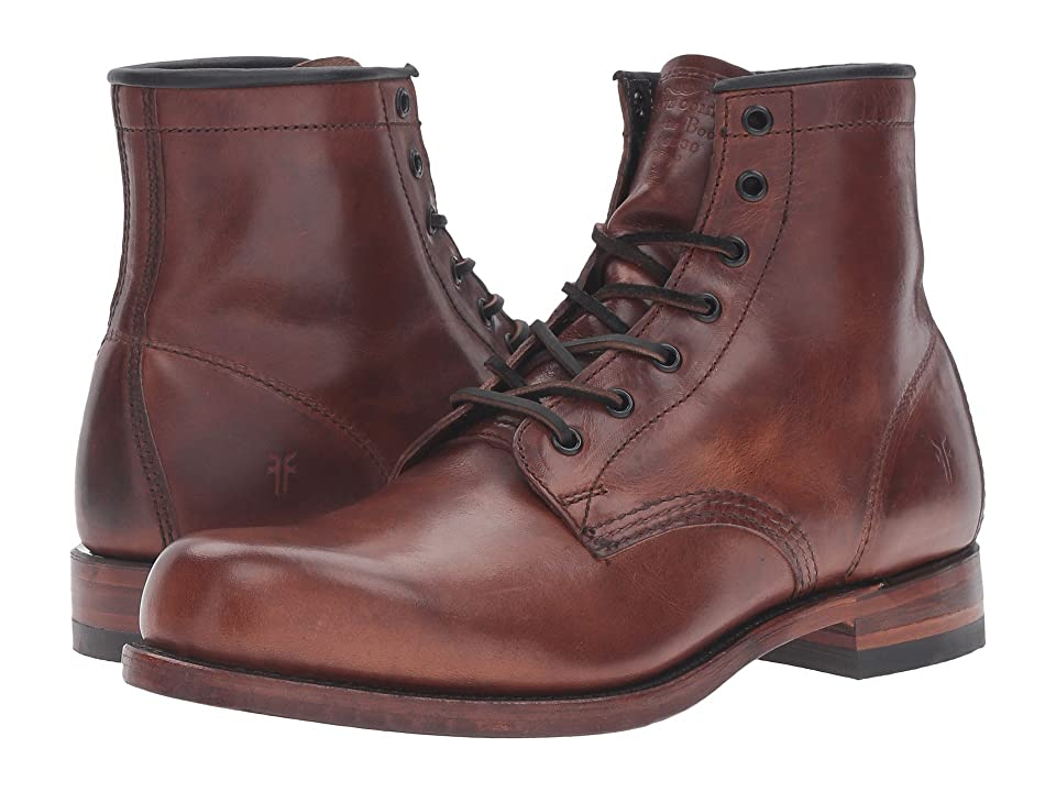 Frye Arkansas Mid Leather (Cognac Vintage Pull Up) Men