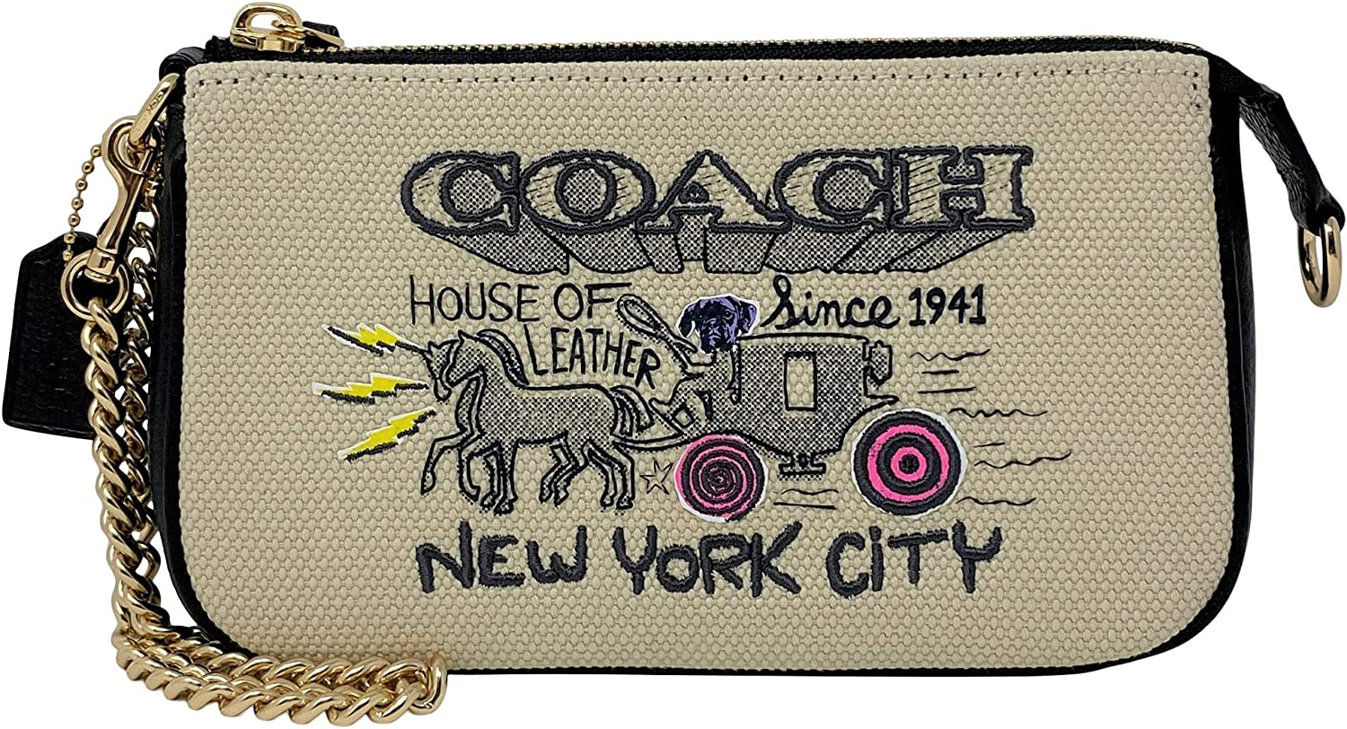 Coach Large Wristlet with Art School Graphic Style No. C5609
