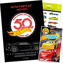Hot Wheels 96 Page Coloring Book Coloring Fun Pack (Coloring Book, Crayons, Stickers)