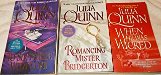 Julia Quinn: Avon Historical Romance: 3 Book Set: Softcover: When He Was Wicked: Romancing Misster Bridgerton: To Sir Phillip With Love: Very Good