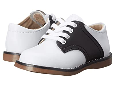 FootMates Cheer 3 (Infant/Toddler/Little Kid) (White/Black) Kids Shoes
