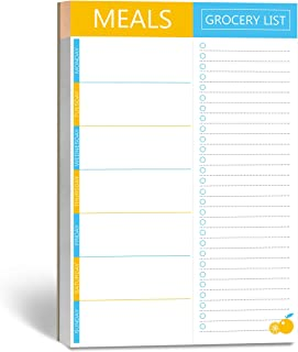 90 Pages Weekly Meal Planner Notepad with Tear Off Grocery Shopping List Magnet Mountings for Fridge Locker