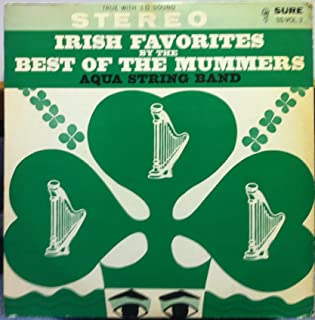AQUA STRING BAND IRISH FAVORITES BY THE BEST OF THE MUMMERS vinyl record