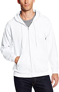Hanes Men's Full-Zip EcoSmart Fleece Hoodie, White, 3XL