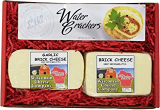 WISCONSIN CHEESE COMPANY'S | 100% Wisconsin Classic Brick Cheese and Cracker Gift Box | Cheese Gifts | Perfect for Family ...