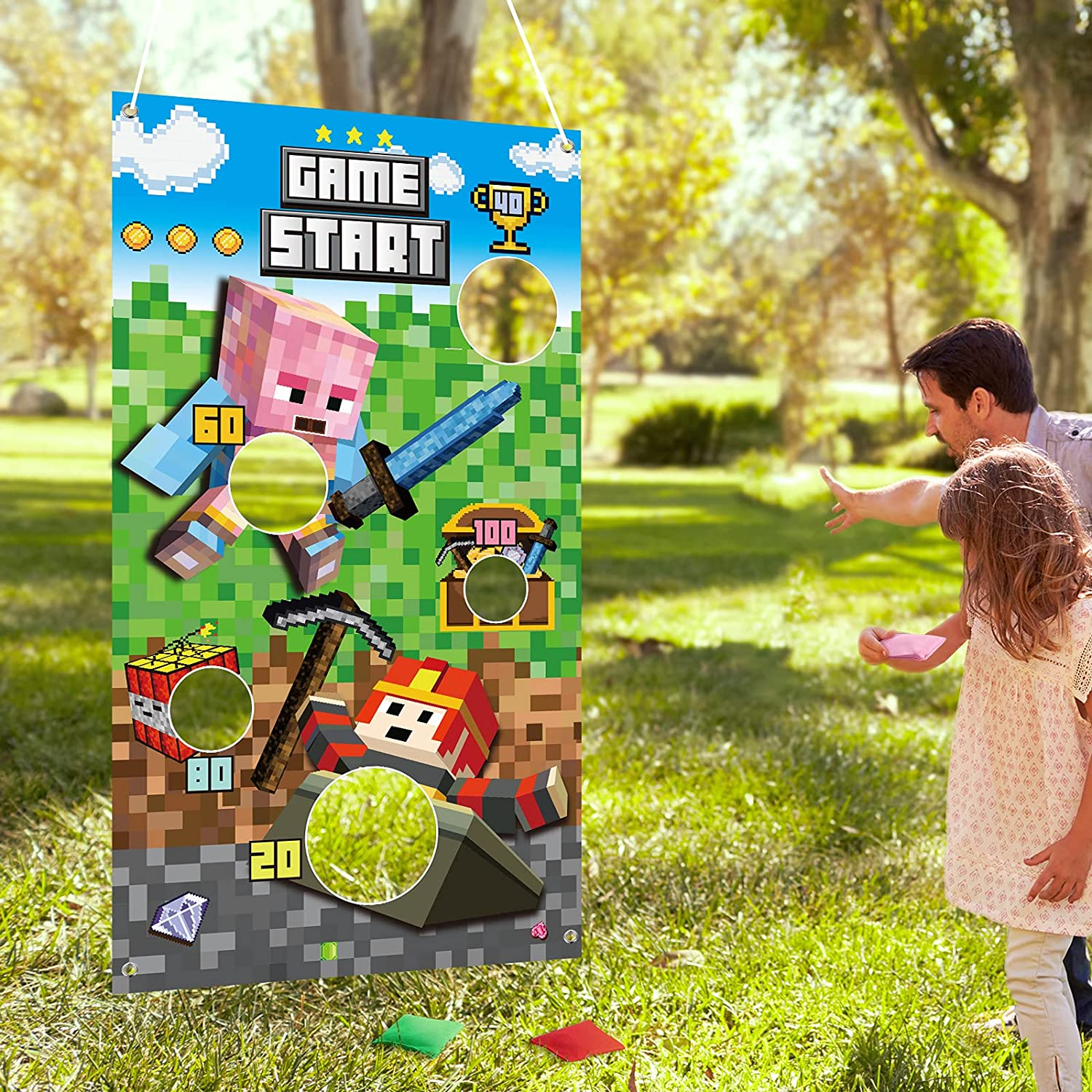 Toss Games Kit New product!! Includes 3 Bean 1 Throwing Soldering Bags Banne Pixel