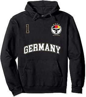 Germany Soccer Hoodie No. 1 Sports Team German Flag T-Shirt