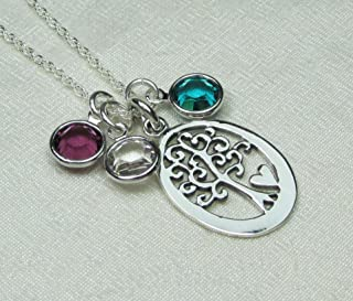 Best personalised silver family necklace Reviews