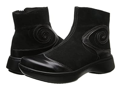 Naot Oyster (Black Suede/Black Madras) Women