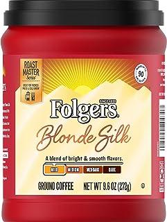 Folgers Blonde Silk Light Roast Ground Coffee, 9.6 Ounce (Pack of 6)