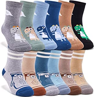 Boys Thick Cotton Socks Kids Warm Socks Winter Thermal Crew Socks