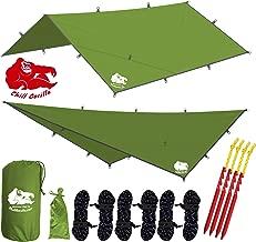 Chill Gorilla 12x12 Hammock Rain Fly Camping Tarp. Ripstop Nylon. 203