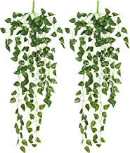 Yatim 90 cm Money Ivy Vine Artificial Plants Greeny Chain Wall Hanging Leaves for Home Room Garden Wedding Garland Outside...