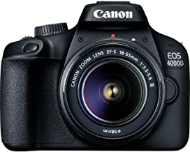 كانون EOS 4000D كاميرا اس ال ار عدسة EF-S 18-55 مم III - اسود