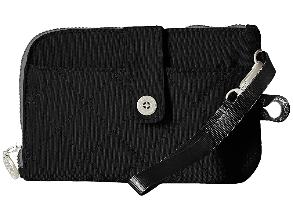Baggallini RFID Passport Phone Wristlet (Black/Charcoal) Wristlet Handbags