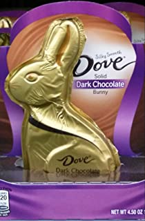 Dove Silky Smooth Dark Chocolate Solid Easter Bunny, 4.5 Ounce