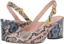 Slingback Sage Pump in Mixed Snake