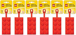 red lego luggage tag