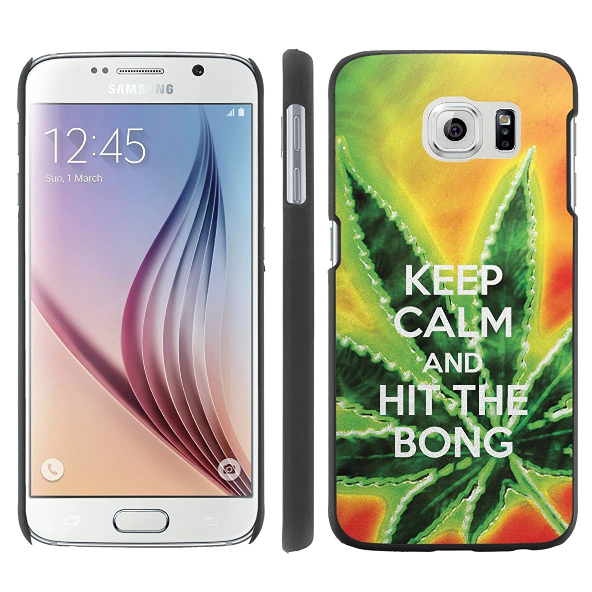 Mobiflare, Slim Clip-on Phone Case, for [Samsung Galaxy S6 G920] - Keep Calm Hit the Bong