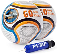 The Mission Ball Soccer Ball - Biblical Gospel Sharing Tool Using The World's Most Popular Sport to Explain Christ - Perfect for Mission Trips, Shoeboxes, VBS, and Gifts (English)
