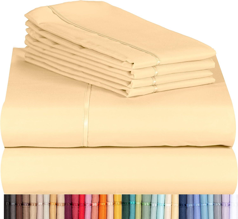 LuxClub 6 PC Sheet Set Bamboo Sheets Free shipping Pockets Charlotte Mall Eco 18