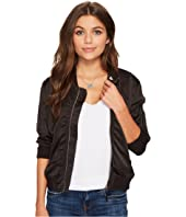 Lucky Brand - Ruched Bomber Jacket