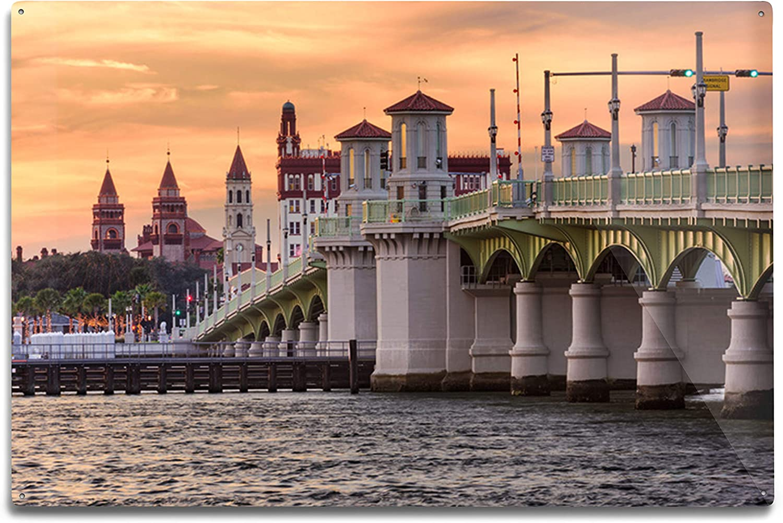 Lantern Press 2021 autumn and shipfree winter new St. Augustine Florida Bridge Photograp Lions of