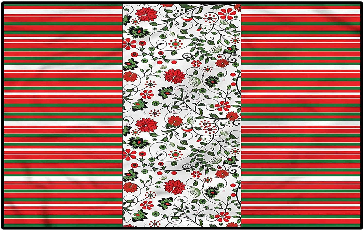 Sale Special Price Christmas Milwaukee Mall Ultra Soft Indoor Modern Floral Rugs Area Stripes Bord