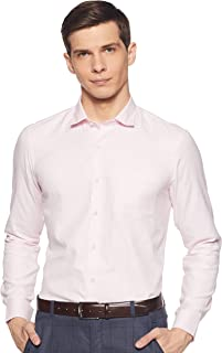 Arrow Pink Slim Fit Patterned Shirt