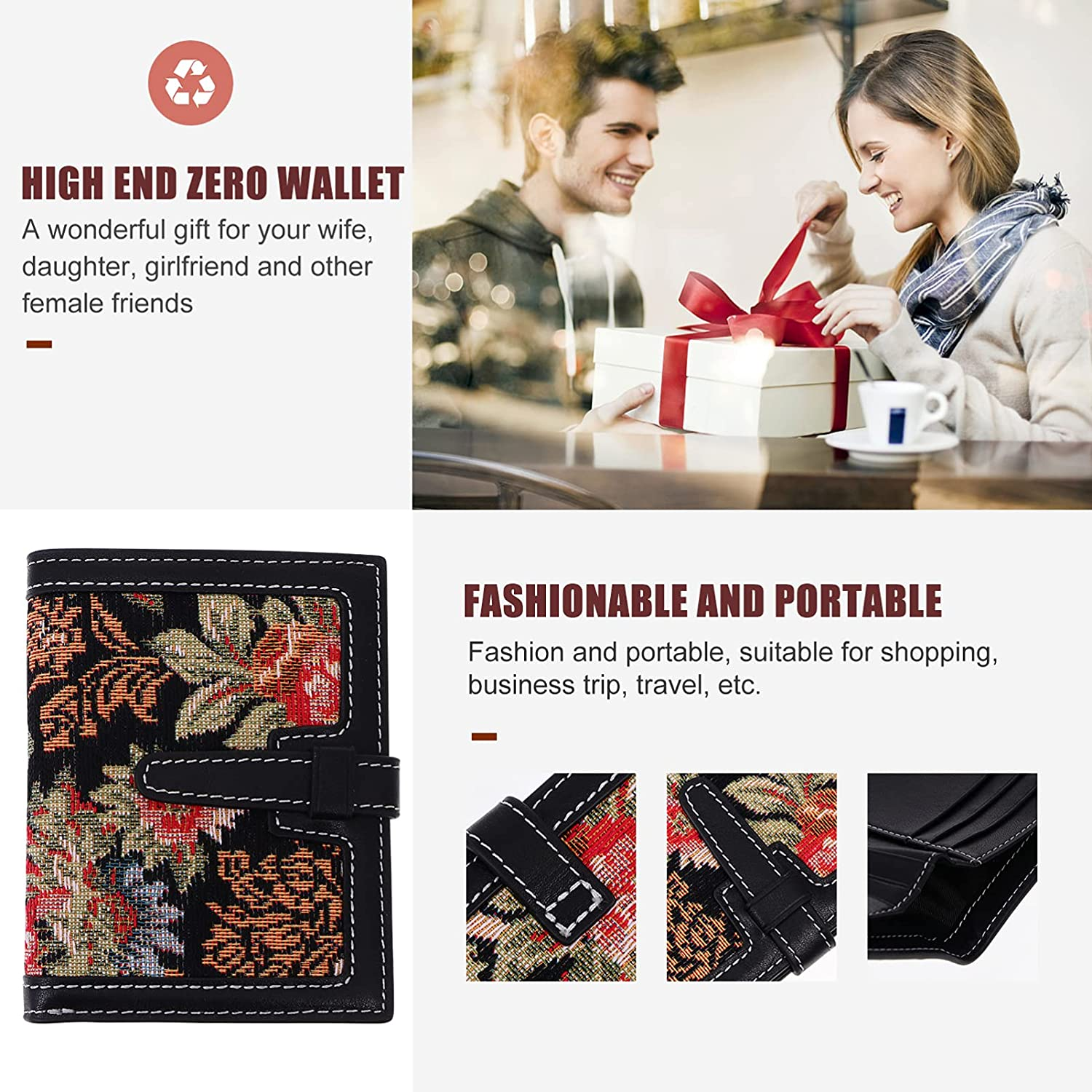 OSALADI Small Coin Purse Boho Change Purse Coin Pouch Card Holder Clutch Portable Change Pouch Birthday Gift