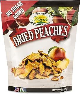 Dried California Peaches, 6oz Bag, Unsweetened, No Added Sugar, Sunrise Fresh Dried Fruit Co.