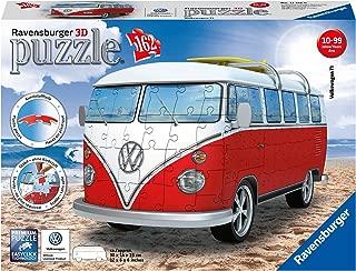 Ravensburger- VW Bus T1 Campervan Puzzle, Color Blanco/Rojo (Ravesnburger 12516)